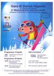 Programma 14 Aprile - Intranet - Sporting Club