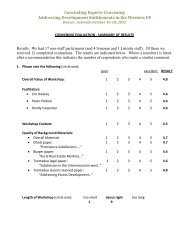 evaluation form - Sonoran Institute