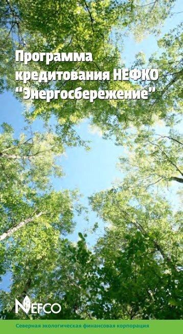 """Программа кредитования НЕФКО """"Энергосбережение ... - Nefco"""
