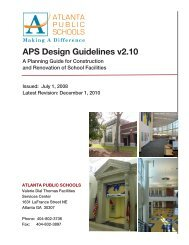 APS Design Guidelines v2.10 - Atlanta Public Schools