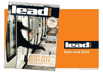 LEAD digital Rate Card - Verlag - W&V