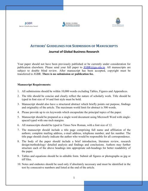 Journal of Global Business Research