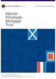 Mariner Wholesale Mortgage Trust
