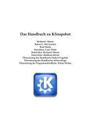 Das Handbuch zu Ksnapshot - KDE Documentation