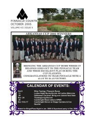 OCTOBER 2005 NEWSLETTER.pmd - Pinnacle Country Club