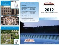 2012 Water and Wastewater Rate Card - City of Brantford