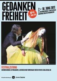2.10. JUNI 2011 - 17. Internationale Schillertage