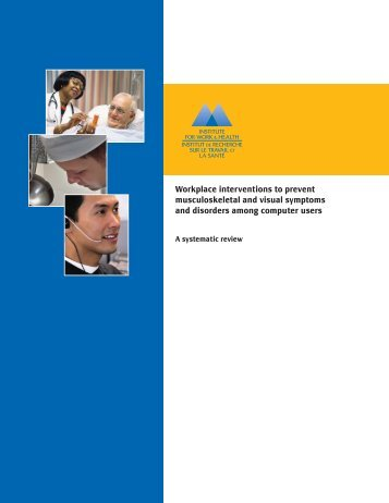 Workplace interventions to prevent musculoskeletal and visual ...