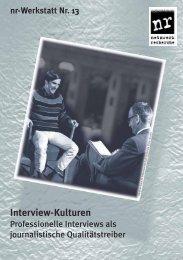Interview-Kulturen nr-Werkstatt 13 - Netzwerk Recherche