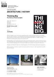Thinking Big - Black Dog Publishing