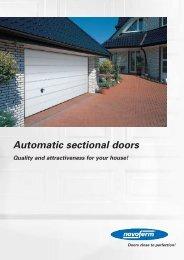 Automatic sectional doors - Novoferm