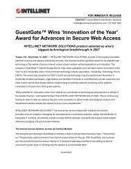 GuestGate™ Wins 'Innovation of the Year' Award for Advances in ...