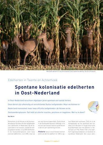Het volledige artikel over de edelherten uit Zoogdier (met kaartjes ...