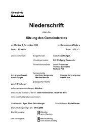 Protokoll vom 3.11.2008 (75 KB) - .PDF - Natters