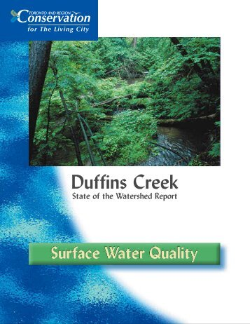Surface Water Quality - Toronto and Region Conservation Authority