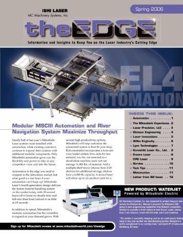 Laser Newsletter2005 - RosCommonMachinery.com