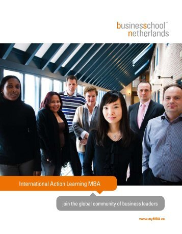 International Action Learning MBA - Business School Netherlands