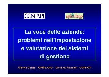 Giovanni Anselmi – CONFAPI - Cepas