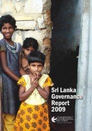 Download Sri Lanka Governance Report 2009 - Transparency ...