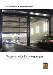 Torsysteme für Sammelgaragen - WT Thielemann