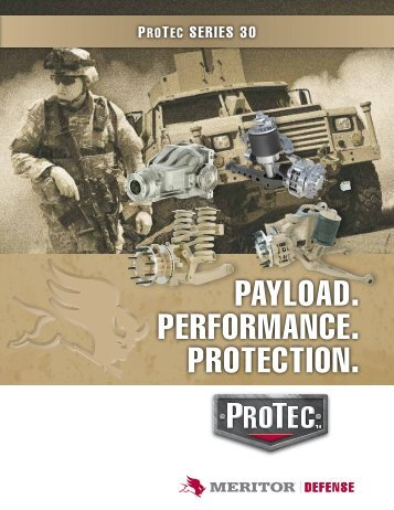 Payload. PerforMaNce. ProTecTIoN. - Meritor