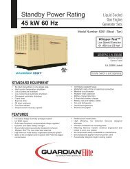 45KW Spec Sheet - Generac Parts