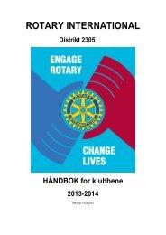 HÃ¥ndboka - Distrikt 2305 - Rotary i Norge