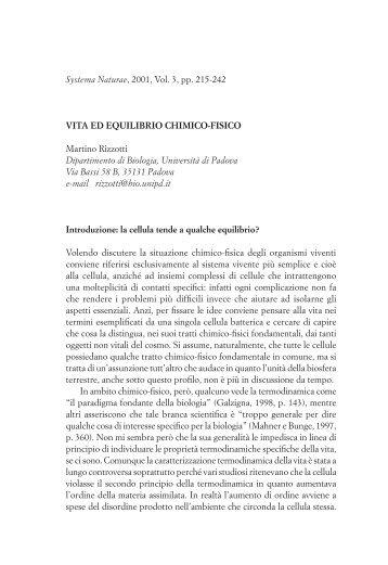 Martino Rizzotti - Associazione Italiana di Biologia Teorica