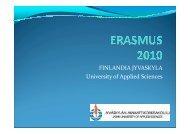 Prezentacja Finlandia - Erasmus 2010/2011