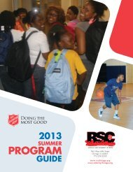 Download Summer 2013 Program Guide - Salvation Army ...