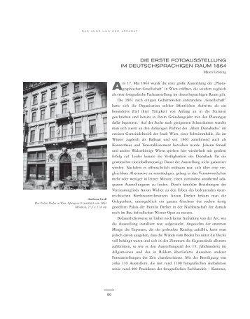 die erste fotoausstellung im deutschsprachigen raum 1864 - Albertina