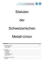 Statuten der Schweizerischen Metall-Union