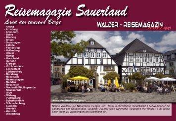 Reisemagazin Sauerland - Reisetipps-Europa