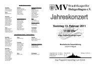 Jahreskonzert 2011 - Musikverein Stadtkapelle Holzgerlingen