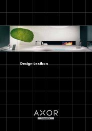 Download Axor Design-Lexikon - Hansgrohe