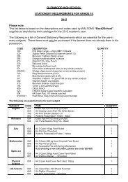 Stationery list Grade 10 2012.pdf - Glenwood High School