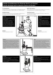 Flexibler Ausstoßschlauch genius / simplex - Vitlab