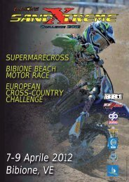 locandina e info Sand Xtreme Challenge Bibione 2012 - Motowinners