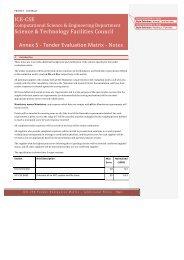 PR110112 - Annex 5 - Tender Evaluation Matrix Notes v3.0 - STFC's ...