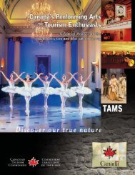 Canada's Performing Arts Tourism Enthusiasts - Canadian Tourism ...