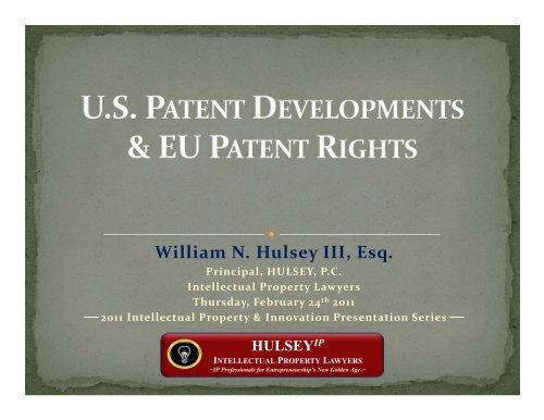 William N. Hulsey III, Esq. - Hulsey, PC - Intellectual Property Lawyers