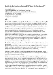 """Bericht für den Landeswettbewerb 2008 """"Unser Dorf hat Zukunft"""""""