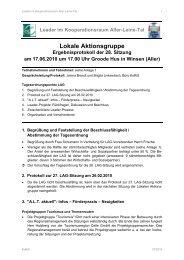 28. LAG-Sitzung am 17.06.2010 - bei Leader im Aller-Leine-Tal