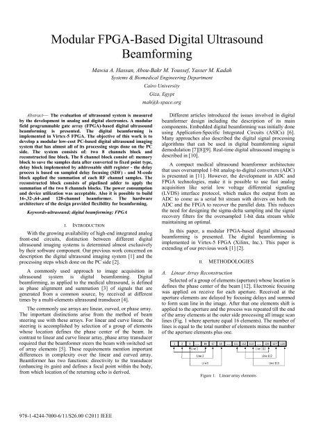 Modular FPGA-Based Digital Ultrasound Beamforming