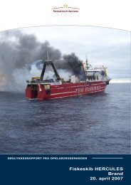 Fiskeskib HERCULES Brand 20. april 2007 - Søfartsstyrelsen