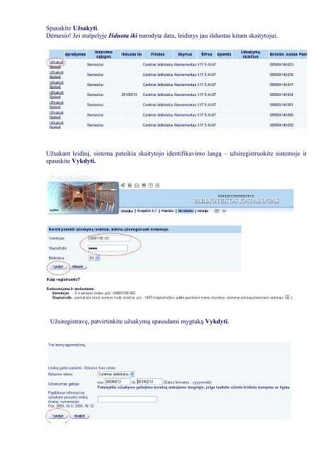 Kaip užsakyti knygas internetu - Šiaulių universiteto biblioteka