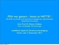 PISA war gestern - heute ist HATTIE ! - Westfälisch-Lippische ...
