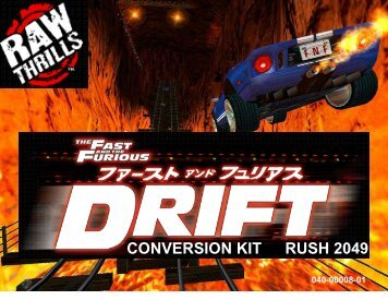 The Fast and the Furious Drift Conversion Kit - Rush 2049 Adder