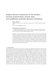 Kapitza conductanceat the interface between Lennard-Jones ...