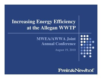 Aeration Energy Efficiencies